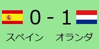 日本0-1オランダ
